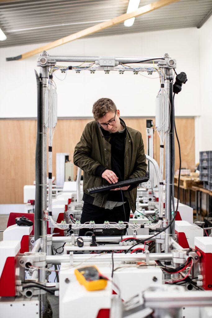 Engineer working in laboratory